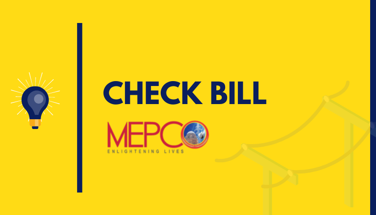 Check MEPCO Bill